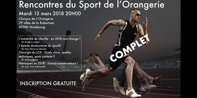 13 mars Rencontres du Sport à l'Orangerie